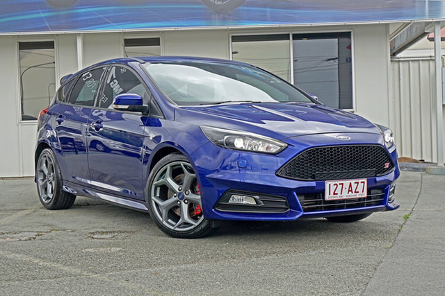Used Ford Focus LZ ST Springwood, 2015 Ford Focus LZ ST Blue 6 Speed Manual Hatchback