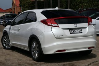 2013 Honda Civic FK MY13 VTi-LN White 5 Speed Automatic Hatchback.