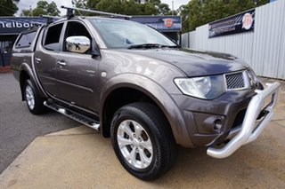 2012 Mitsubishi Triton MN MY12 GLX-R Double Cab Ironbark 5 Speed Manual Utility