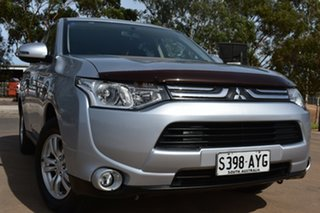 2013 Mitsubishi Outlander ZJ MY13 LS 4WD Silver 6 Speed Sports Automatic Wagon.