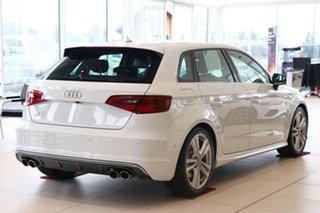 2016 Audi S3 8V MY16 Sportback S Tronic Quattro White 6 Speed Sports Automatic Dual Clutch Hatchback.