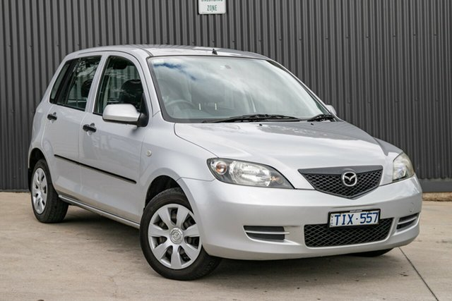 Used Mazda 2 DY10Y1 Neo Mornington, 2004 Mazda 2 DY10Y1 Neo Sunlight Silver 4 Speed Automatic Hatchback