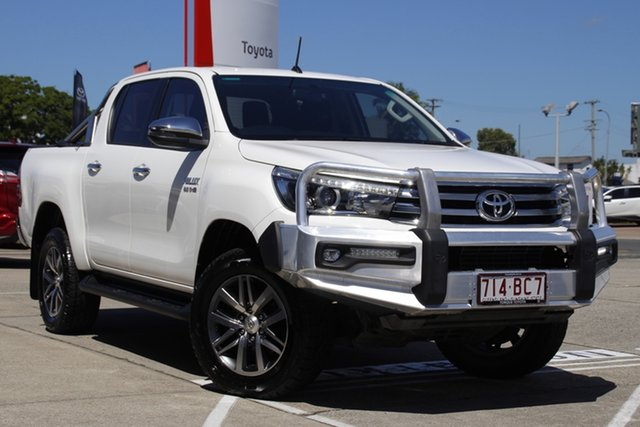 Pre-Owned Toyota Hilux GUN126R SR5 Double Cab Albion, 2017 Toyota Hilux GUN126R SR5 Double Cab Glacier White 6 Speed Manual Utility