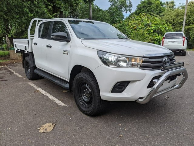 Used Toyota Hilux GUN126R SR Double Cab Stuart Park, 2018 Toyota Hilux GUN126R SR Double Cab White 6 Speed Manual Cab Chassis