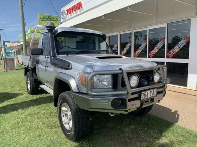 Used Toyota Landcruiser VDJ79R MY12 Update GX (4x4) Emerald, 2014 Toyota Landcruiser VDJ79R MY12 Update GX (4x4) Silver 5 Speed Manual Cab Chassis
