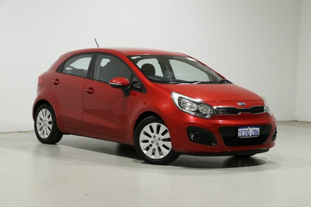 Used Kia Rio UB SI Bentley, 2012 Kia Rio UB SI Red 6 Speed Automatic Hatchback