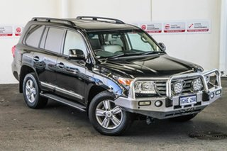 2015 Toyota Landcruiser VDJ200R MY13 Sahara Black Mica 6 Speed Sports Automatic Wagon.