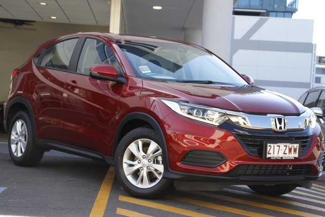 Demo Honda HR-V MY21 VTi Newstead, 2020 Honda HR-V MY21 VTi Passion Red 1 Speed Constant Variable Hatchback