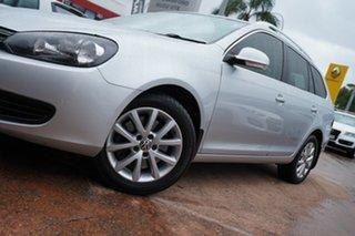 2011 Volkswagen Golf 1K MY12 103 TDI Comfortline Silver 6 Speed Direct Shift Wagon.