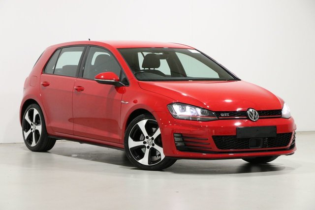 Used Volkswagen Golf AU MY17 GTi Bentley, 2017 Volkswagen Golf AU MY17 GTi Red 6 Speed Manual Hatchback