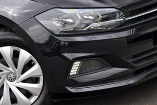 2017 Volkswagen Polo AW MY18 70TSI DSG Trendline Black 7 Speed Sports Automatic Dual Clutch
