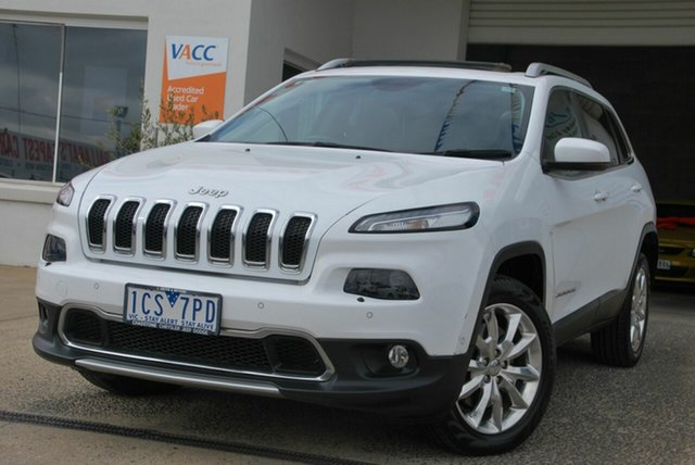 Used Jeep Cherokee KL MY15 Limited (4x4) Wendouree, 2014 Jeep Cherokee KL MY15 Limited (4x4) White 9 Speed Automatic Wagon