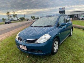 2007 Nissan Tiida C11 MY07 ST Blue 6 Speed Manual Hatchback.