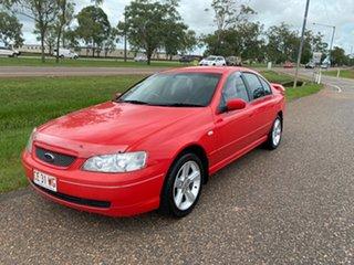 2004 Ford Falcon BA Mk II Futura Red 4 Speed Sports Automatic Sedan.
