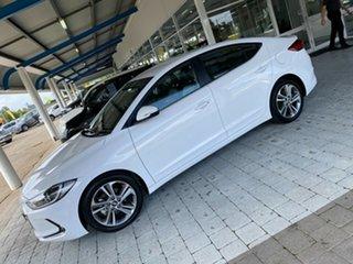 2018 Hyundai Elantra Elite White Sports Automatic Sedan