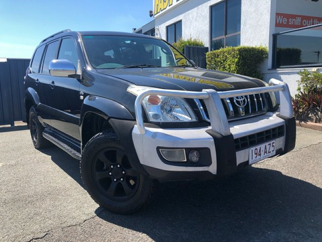 Used Toyota Landcruiser Prado KZJ120R GXL Slacks Creek, 2006 Toyota Landcruiser Prado KZJ120R GXL Black 5 Speed Manual Wagon