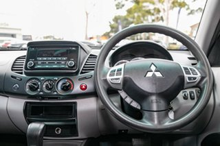 2014 Mitsubishi Triton MN MY15 GLX Double Cab Silver 4 Speed Sports Automatic Utility