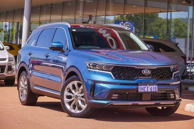 Used Kia Sorento MQ4 MY21 GT-Line AWD Gosnells, 2020 Kia Sorento MQ4 MY21 GT-Line AWD Blue 8 Speed Sports Automatic Dual Clutch Wagon