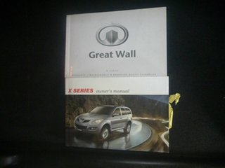 2012 Great Wall X200 K2 MY12 White 6 Speed Manual Wagon.