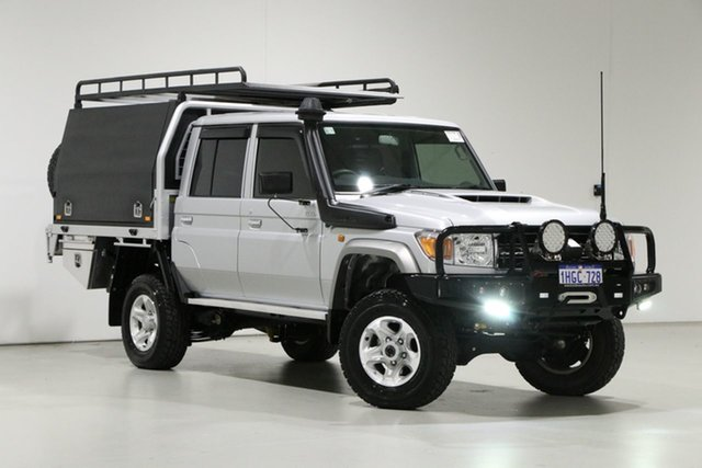 Used Toyota Landcruiser VDJ79R GXL (4x4) Bentley, 2020 Toyota Landcruiser VDJ79R GXL (4x4) Silver 5 Speed Manual Double Cab Chassis
