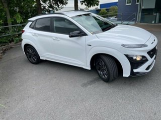 2020 Hyundai Kona Os.v4 MY21 Atlas White 7 Speed Sports Automatic Dual Clutch Wagon.