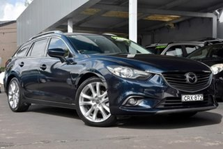2014 Mazda 6 GJ1031 Atenza SKYACTIV-Drive Blue 6 Speed Sports Automatic Wagon.