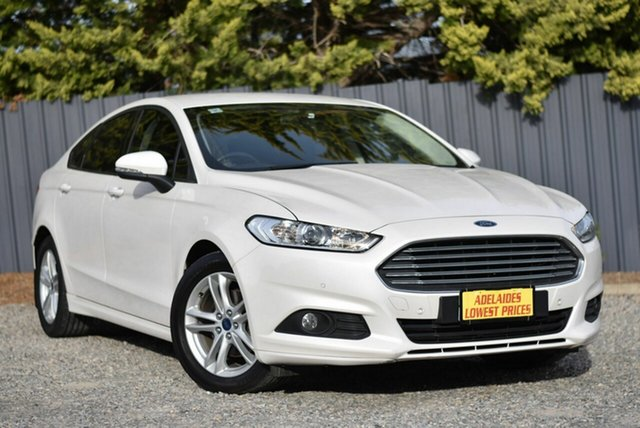 Used Ford Mondeo MD 2017.50MY Ambiente Morphett Vale, 2017 Ford Mondeo MD 2017.50MY Ambiente White 6 Speed Sports Automatic Dual Clutch Hatchback