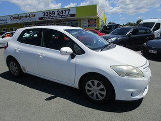 2010 Toyota Corolla ZRE152R MY10 Conquest White 4 Speed Automatic Hatchback.