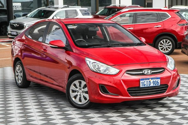 Used Hyundai Accent RB4 MY17 Active Attadale, 2017 Hyundai Accent RB4 MY17 Active Red 6 Speed Constant Variable Hatchback
