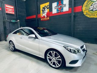 2013 Mercedes-Benz E-Class C207 MY13 E250 7G-Tronic + Silver 7 Speed Sports Automatic Coupe.