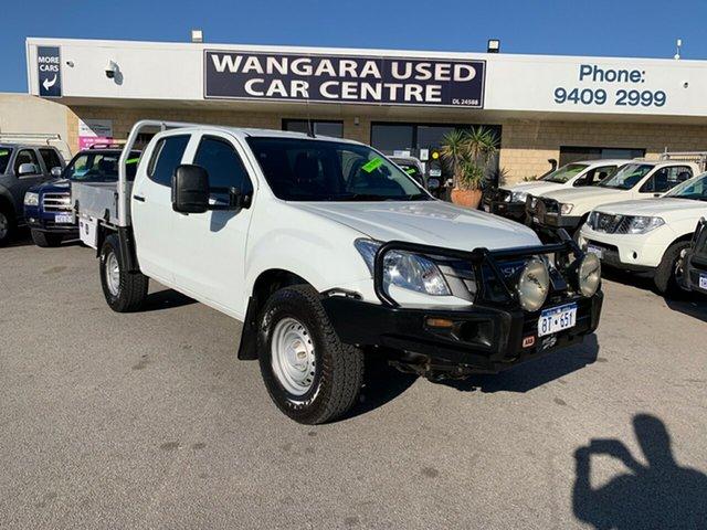 Used Isuzu D-MAX TF MY15 SX (4x4) Wangara, 2015 Isuzu D-MAX TF MY15 SX (4x4) White 5 Speed Manual Crew Cab Chassis
