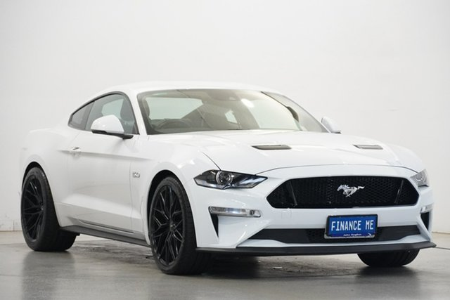 Used Ford Mustang FN 2020MY GT Victoria Park, 2019 Ford Mustang FN 2020MY GT Oxford White 10 Speed Sports Automatic Fastback