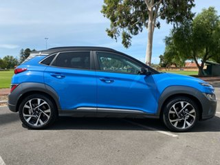 2020 Hyundai Kona Os.v4 MY21 Highlander 2WD Surfy Blue + Black R 8 Speed Constant Variable Wagon.