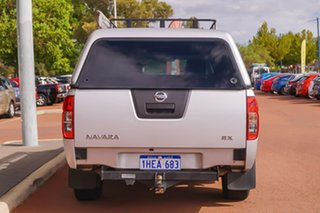 2012 Nissan Navara D40 S6 MY12 RX 4x2 Silver 6 Speed Manual Utility.