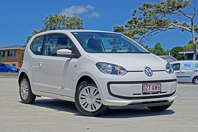 Used Volkswagen UP! Type AA MY14 Capalaba, 2013 Volkswagen UP! Type AA MY14 White 5 Speed Manual Hatchback
