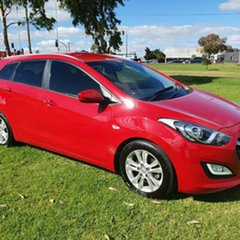 2013 Hyundai i30 GD Active Tourer Red 6 Speed Sports Automatic Wagon.