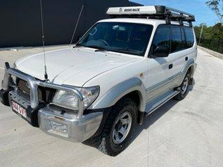 2002 Toyota Landcruiser Prado VZJ95R GXL White 4 Speed Automatic Wagon.