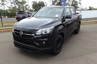 2020 Ssangyong Musso Q200 MY20.5 Ultimate Crew Cab Black 6 Speed Sports Automatic Utility.
