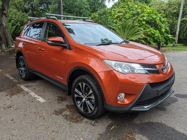 Used Toyota RAV4 ALA49R Cruiser AWD Stuart Park, 2015 Toyota RAV4 ALA49R Cruiser AWD Orange 6 Speed Sports Automatic Wagon