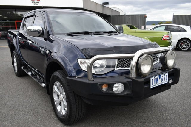 Used Mitsubishi Triton MN MY11 GLX-R Double Cab Wantirna South, 2011 Mitsubishi Triton MN MY11 GLX-R Double Cab Blue 5 Speed Sports Automatic Utility