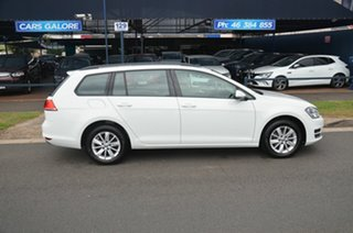 2015 Volkswagen Golf AU MY16 92 TSI Trendline White 7 Speed Auto Direct Shift Wagon.