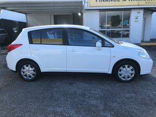 2006 Nissan Tiida C11 ST White 4 Speed Automatic Hatchback.