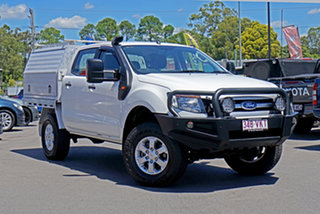 2015 Ford Ranger PX XLS Double Cab Cool White 6 Speed Sports Automatic Utility.