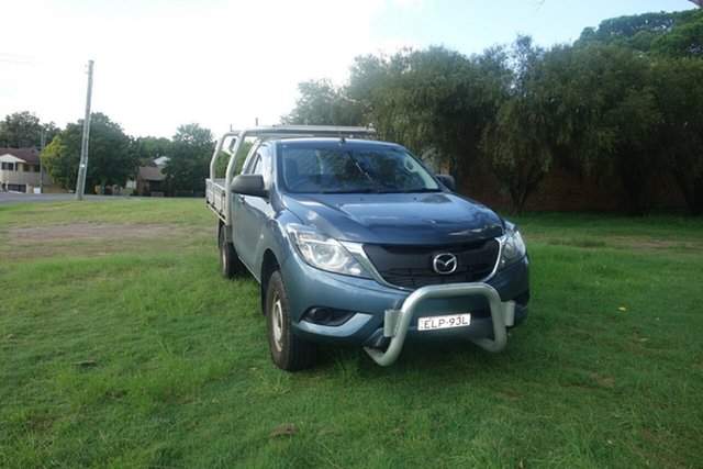 Used Mazda BT-50 UR0YG1 XT Freestyle 4x2 Hi-Rider East Maitland, 2016 Mazda BT-50 UR0YG1 XT Freestyle 4x2 Hi-Rider Blue 6 Speed Sports Automatic Cab Chassis