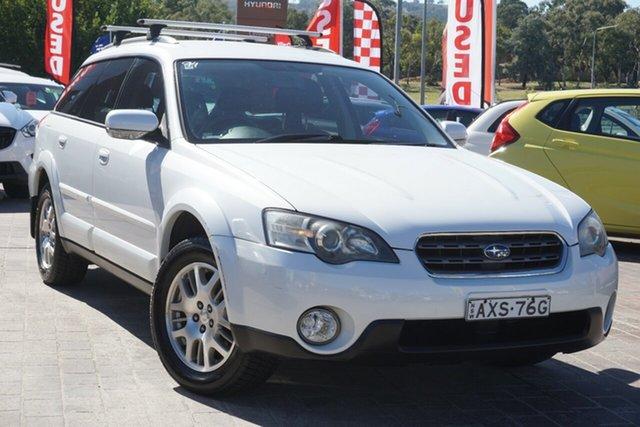 Used Subaru Outback B4A MY05 AWD Phillip, 2005 Subaru Outback B4A MY05 AWD White 4 Speed Sports Automatic Wagon