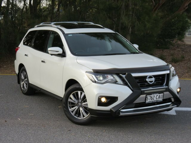 Used Nissan Pathfinder R52 Series III MY19 ST-L X-tronic 4WD Morphett Vale, 2019 Nissan Pathfinder R52 Series III MY19 ST-L X-tronic 4WD White 1 Speed Constant Variable Wagon