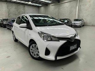 2014 Toyota Yaris NCP130R YR White 5 Speed Manual Hatchback.