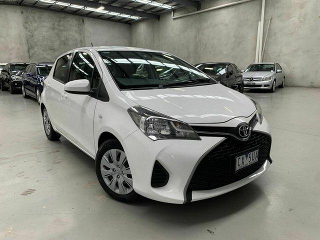 Used Toyota Yaris NCP130R YR Coburg North, 2014 Toyota Yaris NCP130R YR White 5 Speed Manual Hatchback