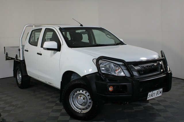 Used Isuzu D-MAX MY15 SX Crew Cab Wayville, 2015 Isuzu D-MAX MY15 SX Crew Cab White 5 Speed Manual Utility