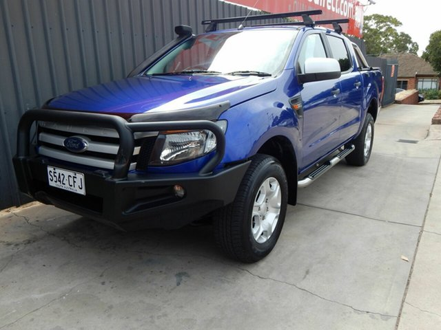 Used Ford Ranger PX XLS Double Cab Blair Athol, 2014 Ford Ranger PX XLS Double Cab Blue 6 Speed Sports Automatic Utility